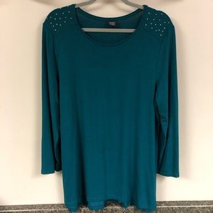 Faded glory top with detail XL 16/18 euc